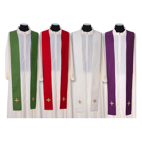 Chasuble and stole, Italian neckline 15