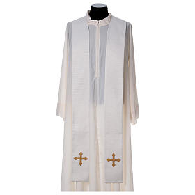 Chasuble and stole with IHS and flower embroidery s4