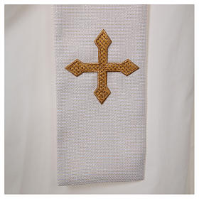 Chasuble and stole with IHS and flower embroidery s5