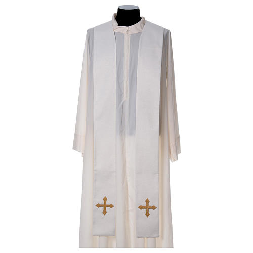 Chasuble and stole with IHS and flower embroidery 4