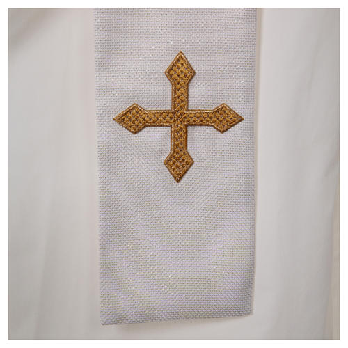Chasuble and stole with IHS and flower embroidery 5