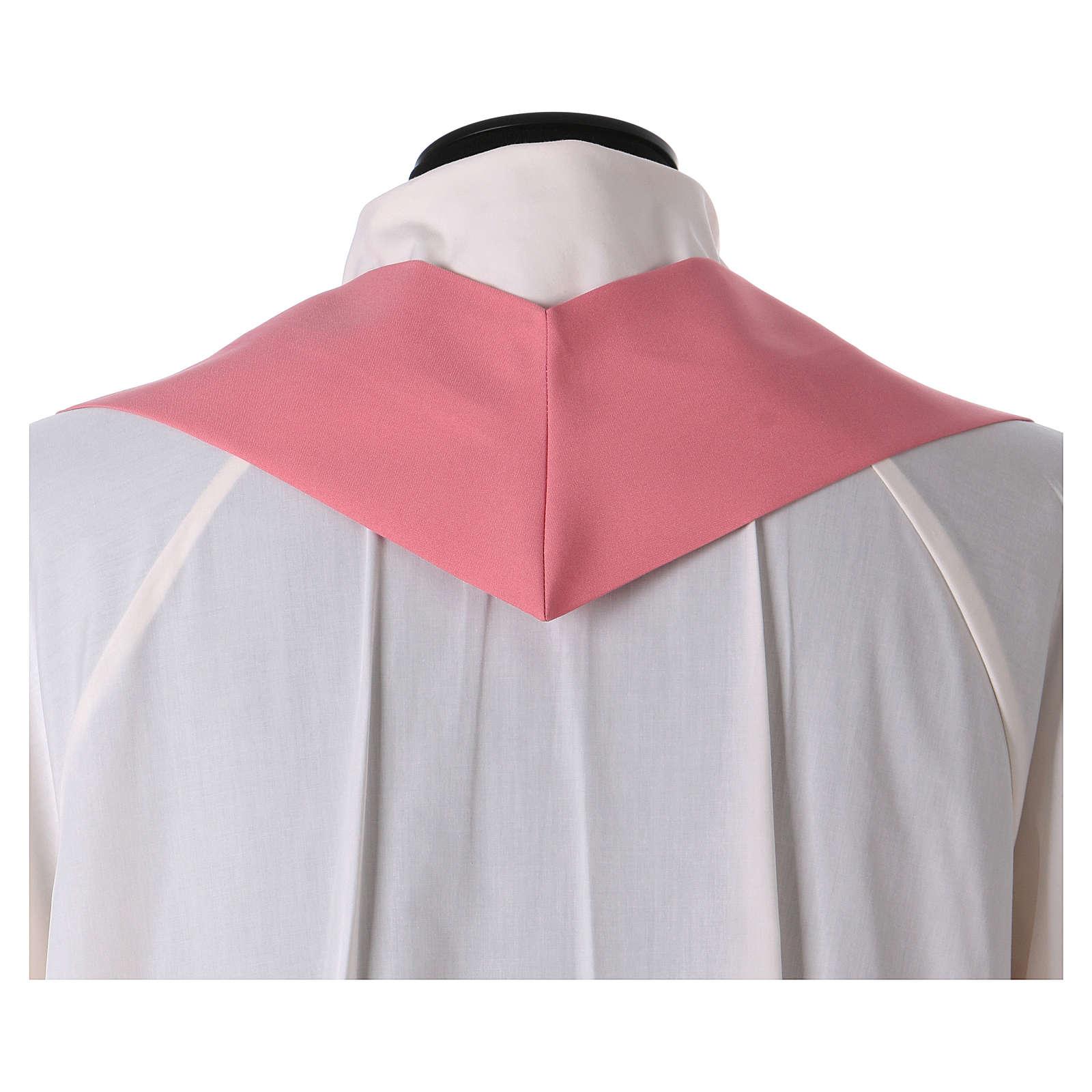 Casulla poliéster rosa 4