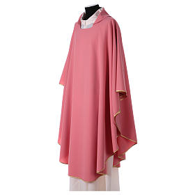Pink chasuble in polyester s2