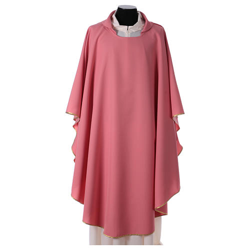 Pink chasuble in polyester 1