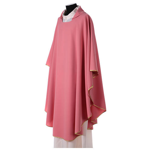 Pink chasuble in polyester 2