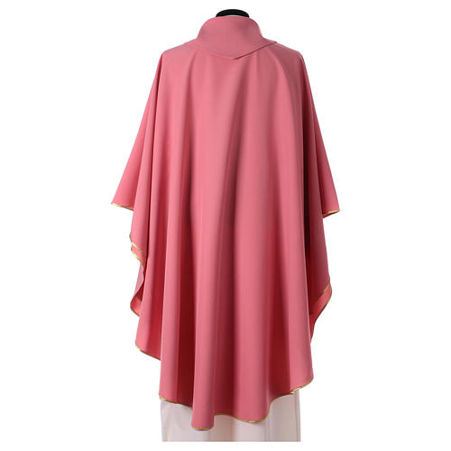 Pink chasuble in polyester 3