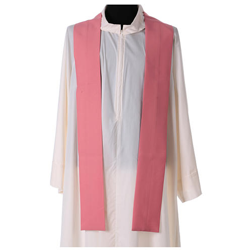 Pink chasuble in polyester 4