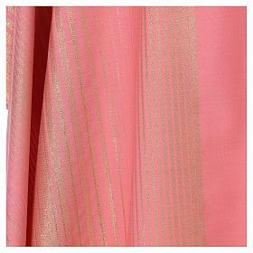 Casula rosa rigata in lana lurex s4
