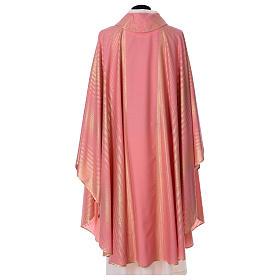Casula rosa rigata in lana lurex s5