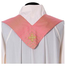 Casula rosa rigata in lana lurex s8