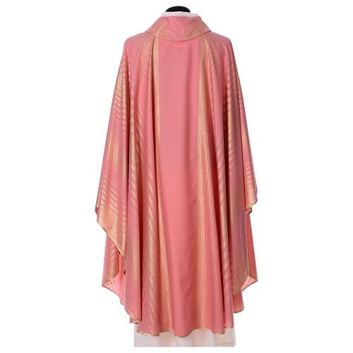 Casula rosa rigata in lana lurex 5