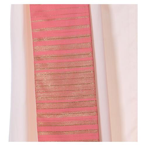 Casula rosa rigata in lana lurex 7
