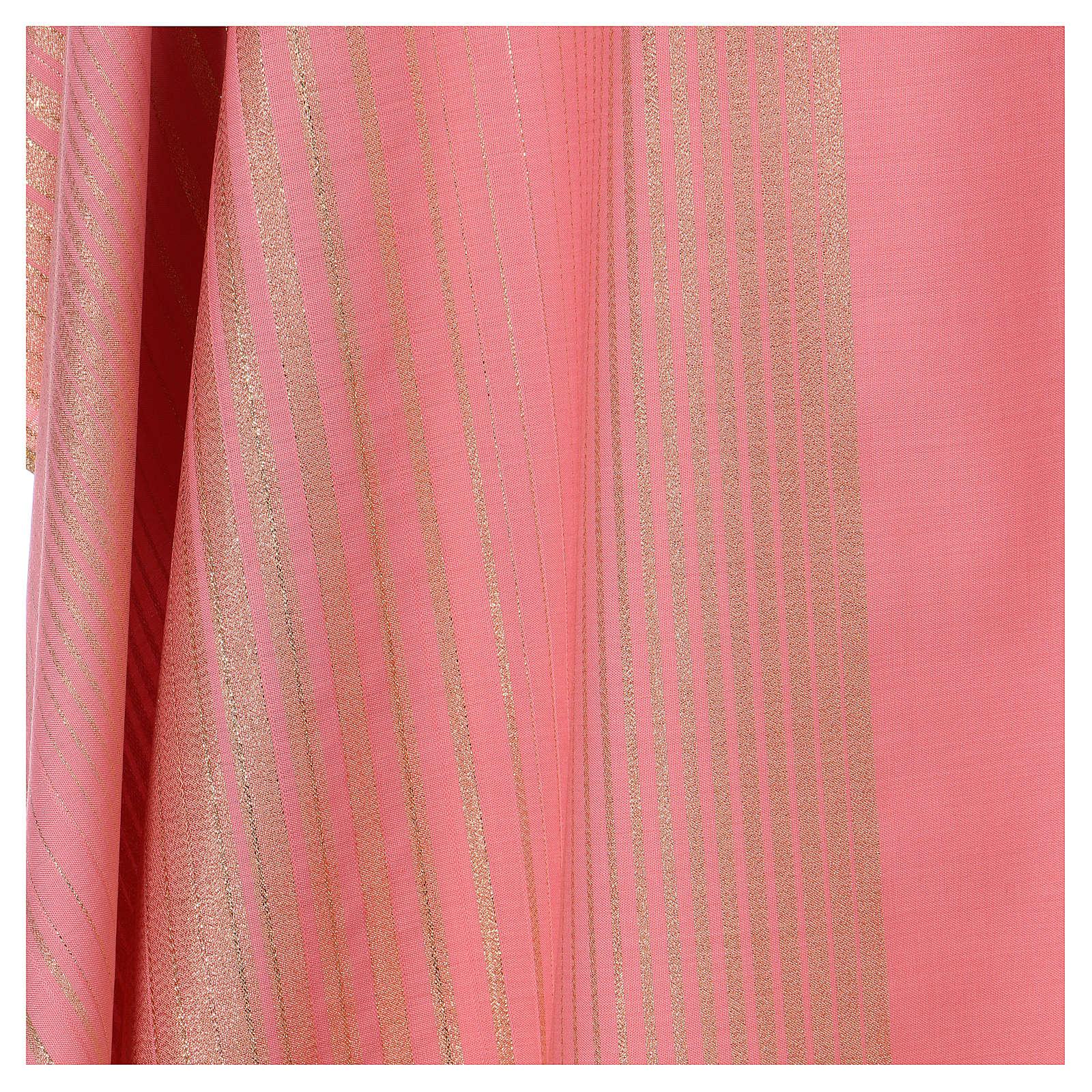 Casula cor-de-rosa lã e lurex  4