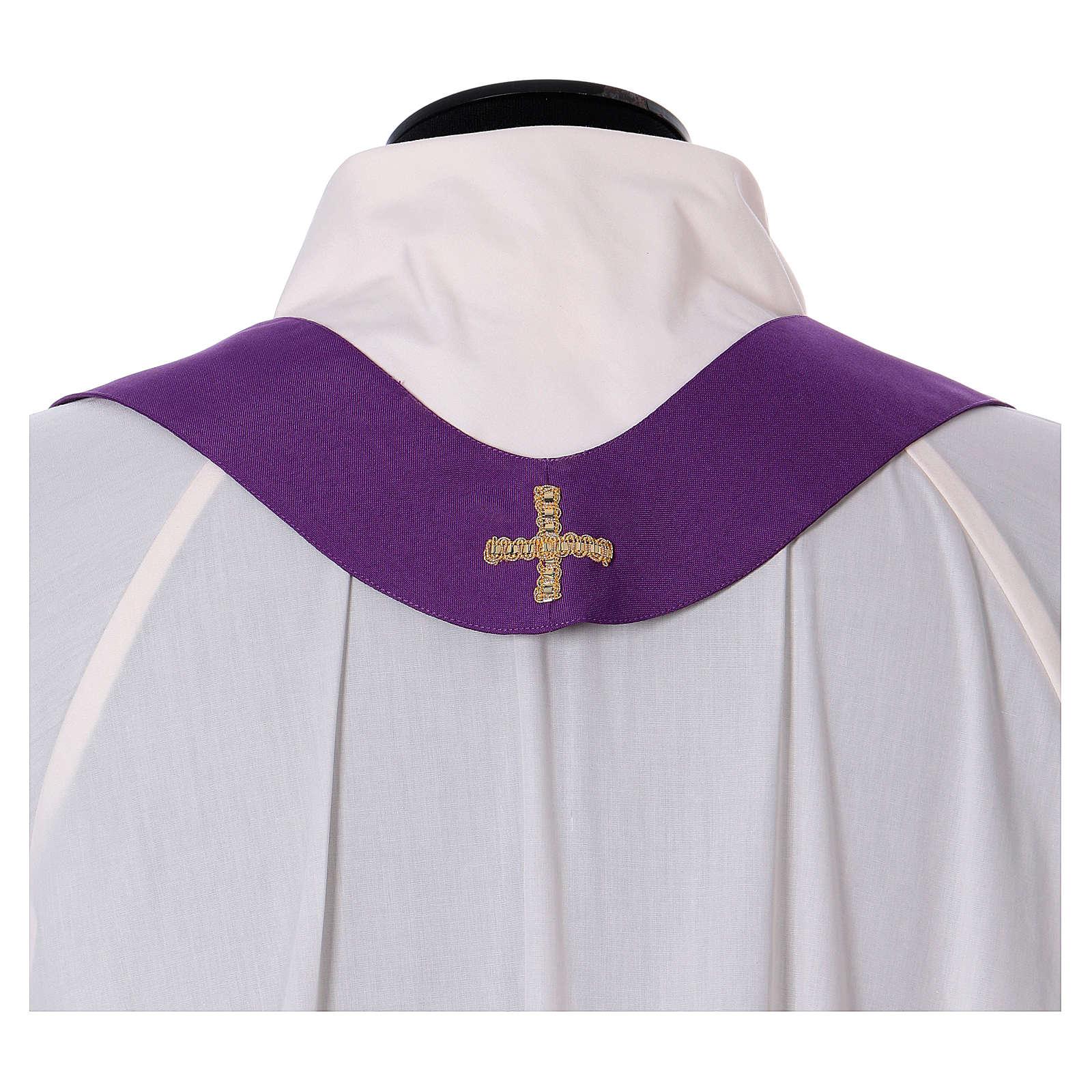 Chasuble 100% polyester croix alpha oméga avec épi de blé 4
