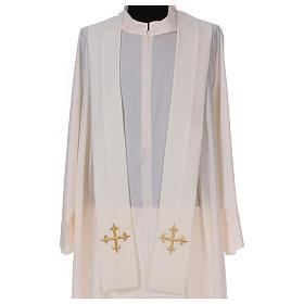 Casulla bordada símbolo mariano 100% poliéster s5
