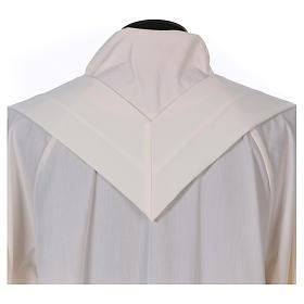 Casulla bordada símbolo mariano 100% poliéster s7