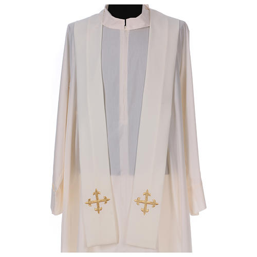 Casulla bordada símbolo mariano 100% poliéster 5