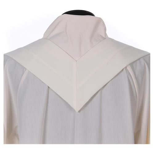 Casulla bordada símbolo mariano 100% poliéster 7