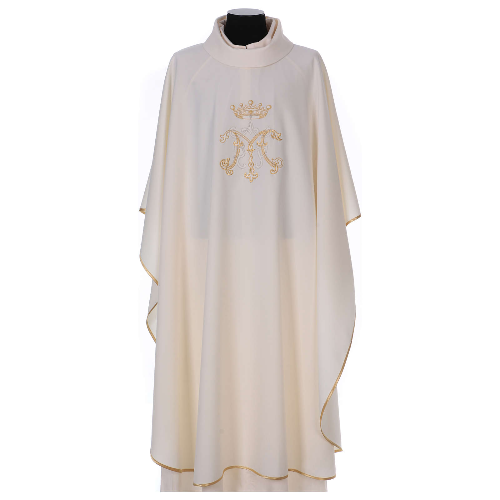 Chasuble brodée symbole marial 100% polyester 4