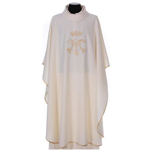 Chasuble brodée symbole marial 100% polyester 1