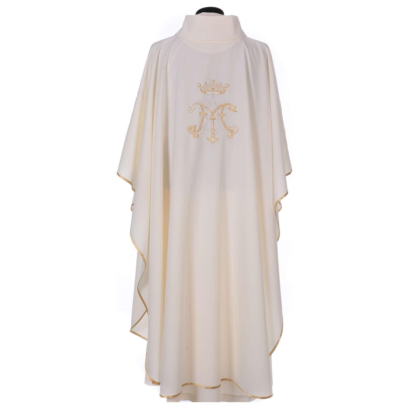 Casula  ricamata simbolo mariano 100% poliestere 4