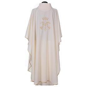 Casula  ricamata simbolo mariano 100% poliestere s4