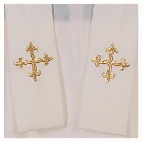 Casula  ricamata simbolo mariano 100% poliestere s6