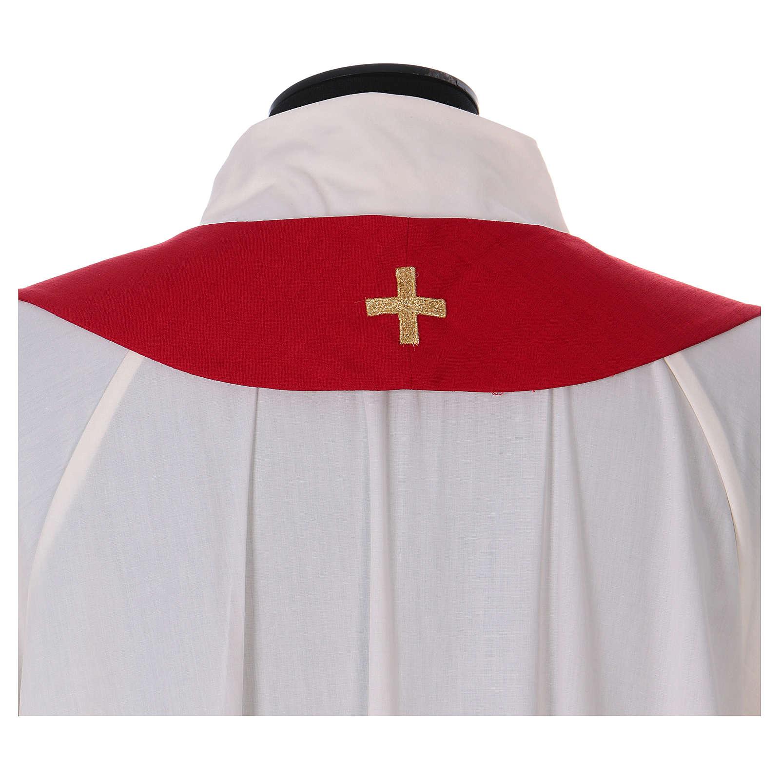 Casula colomba e fiamma Spirito Santo in poliestere 4