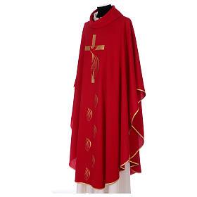 Casula colomba e fiamma Spirito Santo in poliestere s4