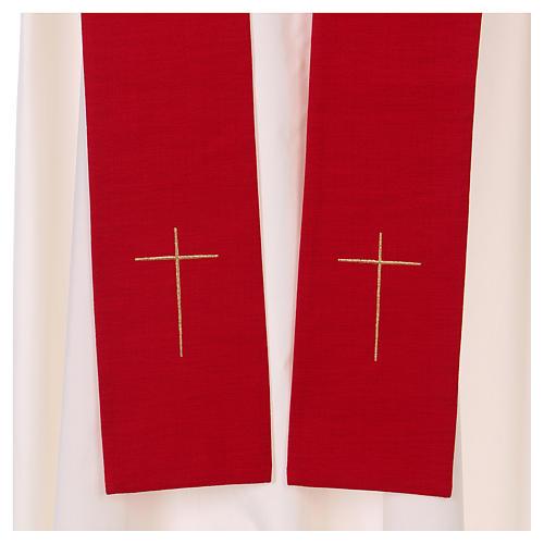 Casula colomba e fiamma Spirito Santo in poliestere 7