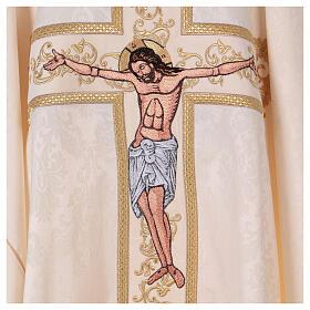 Casula liturgica damascata con crocifisso