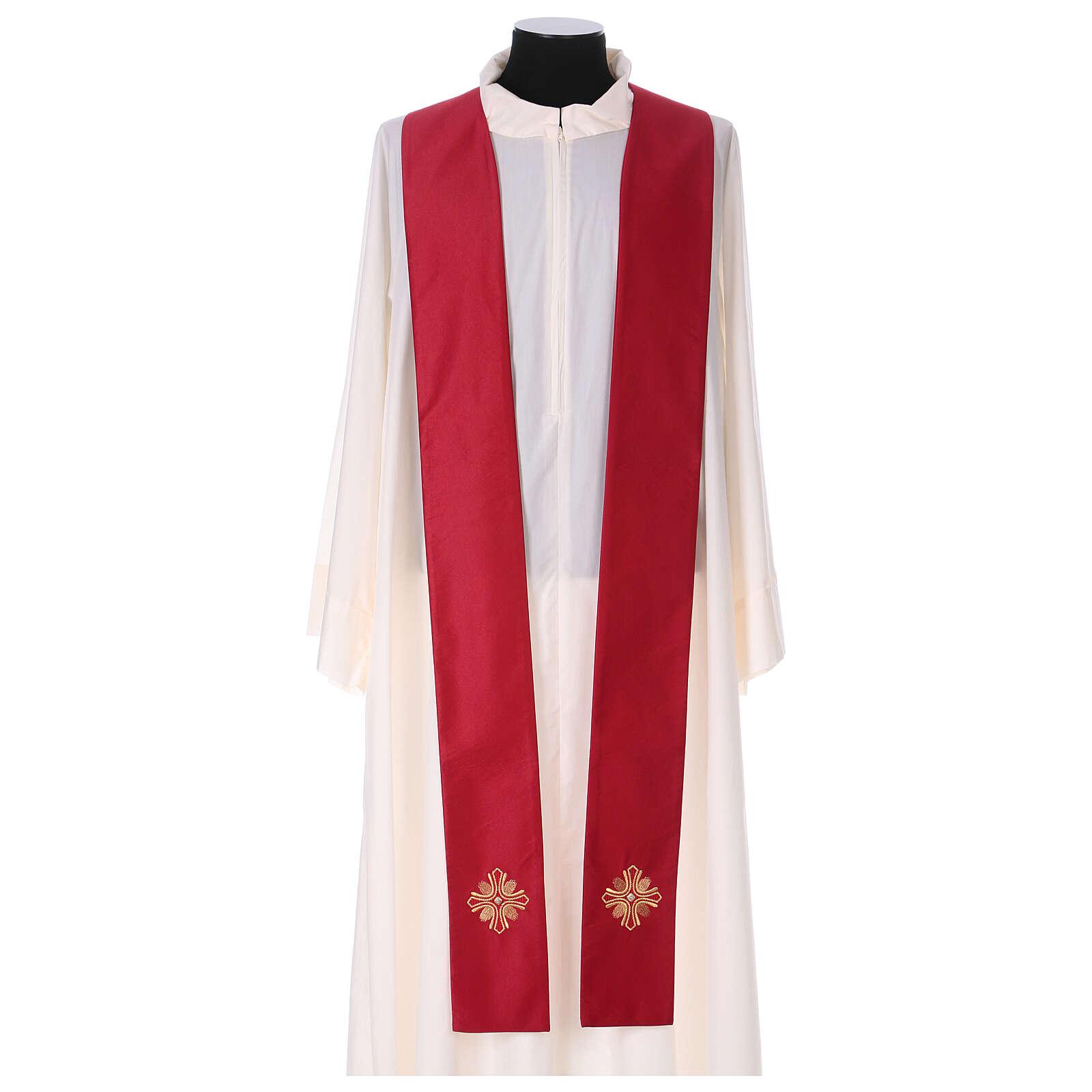 Casulla poliéster y decoración cruz y piedras Limited Edition 4