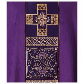 Casulla poliéster y decoración cruz y piedras Limited Edition s4