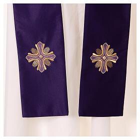 Casulla poliéster y decoración cruz y piedras Limited Edition s5
