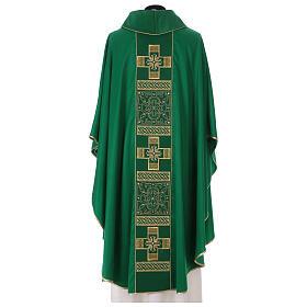 Casulla poliéster y decoración cruz y piedras Limited Edition s6