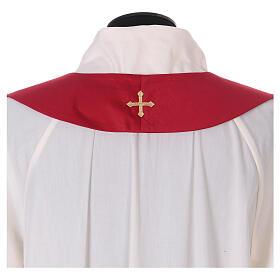 Casulla poliéster y decoración cruz y piedras Limited Edition s13