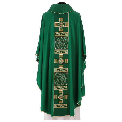 Casulla poliéster y decoración cruz y piedras Limited Edition 6
