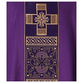 Casula poliestere e decorazione croce e pietre Limited Edition