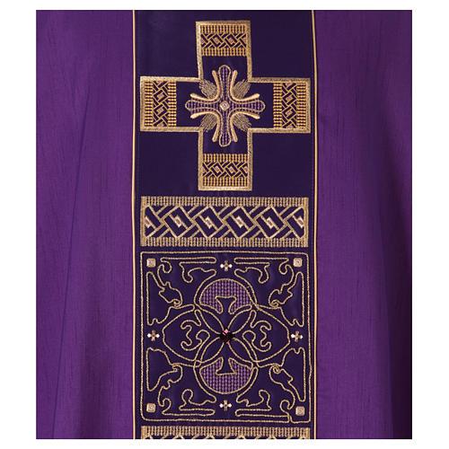 Casula poliestere e decorazione croce e pietre Limited Edition 2