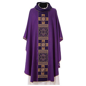 Chasuble polyester with cross and stone decorations Limited Edition s3