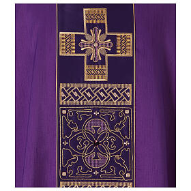 Chasuble polyester with cross and stone decorations Limited Edition s4