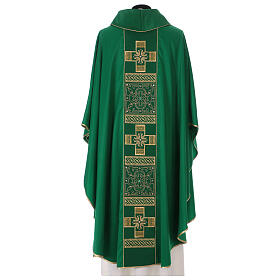 Chasuble polyester with cross and stone decorations Limited Edition s6