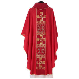 Chasuble polyester with cross and stone decorations Limited Edition s7