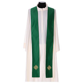 Chasuble polyester with cross and stone decorations Limited Edition s9