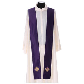 Chasuble polyester with cross and stone decorations Limited Edition s11