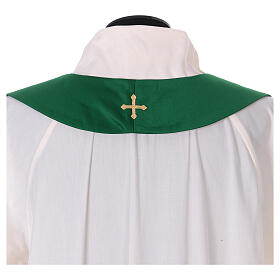 Chasuble polyester with cross and stone decorations Limited Edition s12