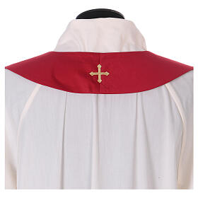 Chasuble polyester with cross and stone decorations Limited Edition s13