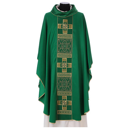 Chasuble polyester with cross and stone decorations Limited Edition 1