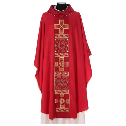 Chasuble polyester with cross and stone decorations Limited Edition 2