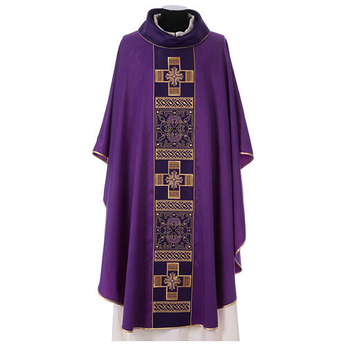 Chasuble polyester with cross and stone decorations Limited Edition 3